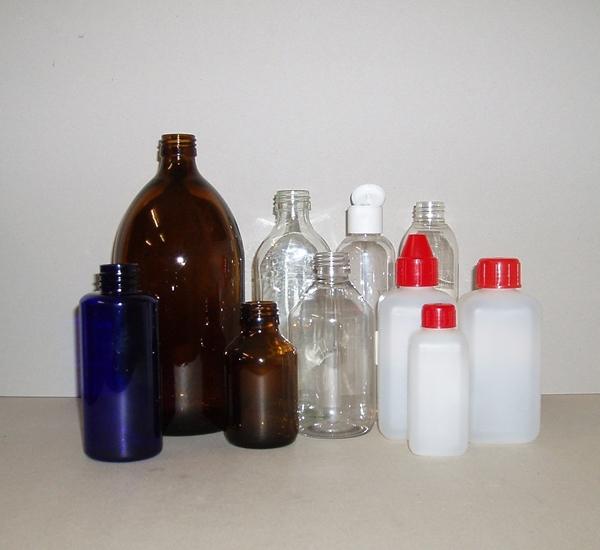 Verpakking flessen pvc