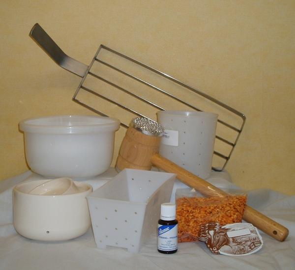 Materialen kaasbereiding