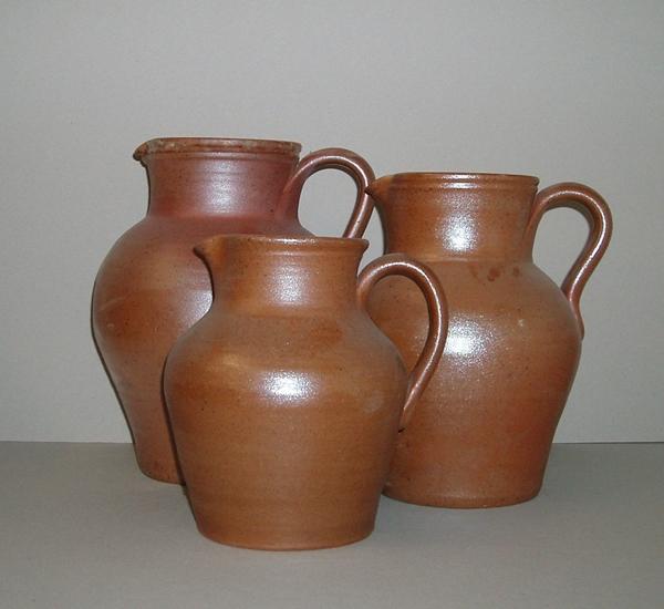 Wijnkannen in bruin aardewerk 1 liter