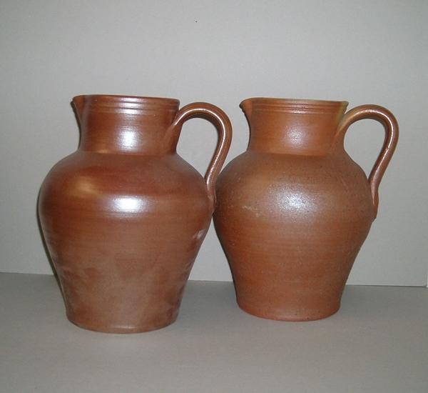 Wijnkannen in bruin aardewerk 4 liter