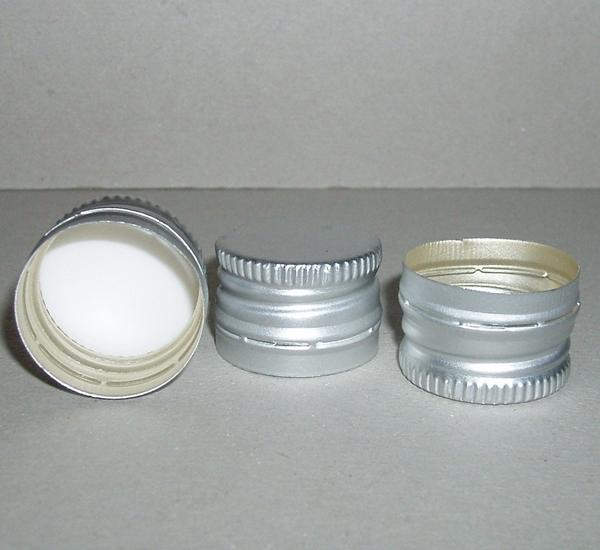 PP capsules 22 x 15 voorgevormd zilver 1st