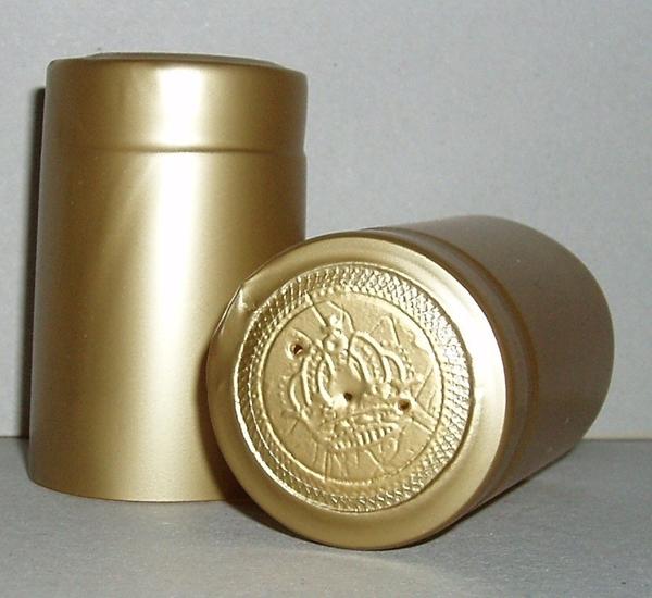 Krimpcapsules voor Champagnefles goud 100st