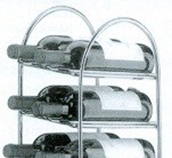Wijnrek verchroomd 20 flessen 210X 280X H1100mm