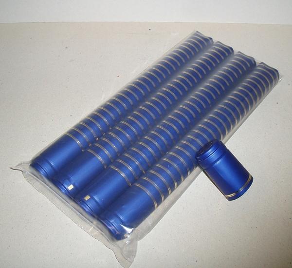Krimpcapsules blauw 1.000st