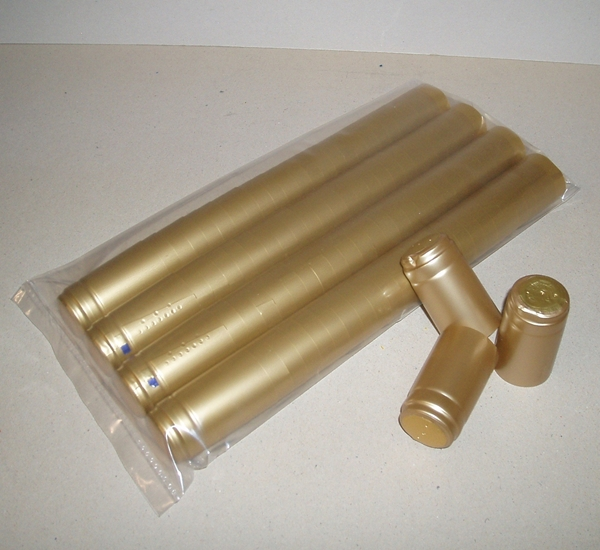 Krimpcapsules goud 100st