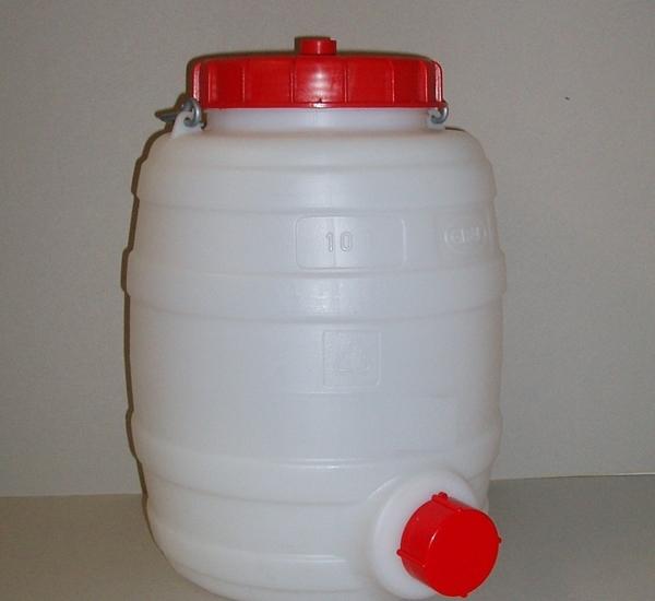 Kunststofvat Graf 10 liter rond