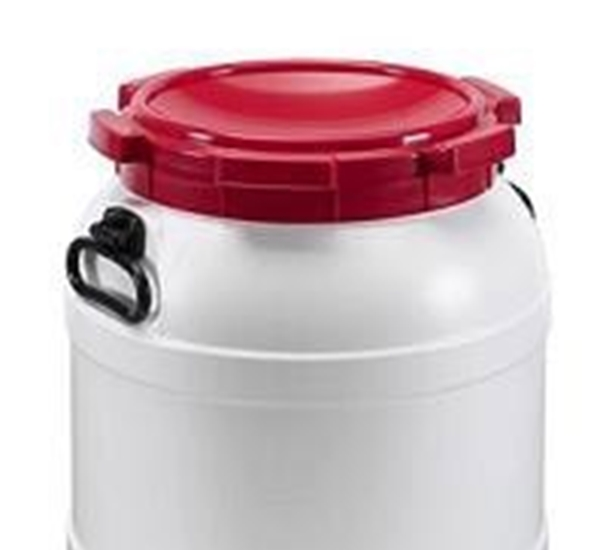 Kunststofvat met schroefdeksel 55 liter