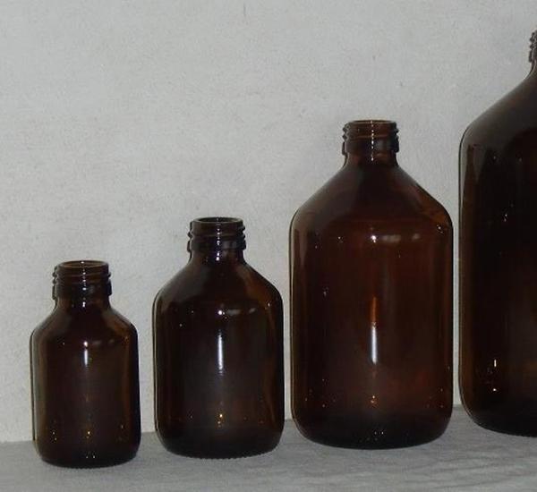 Fles 500ml bruin glas (diam.28mm)