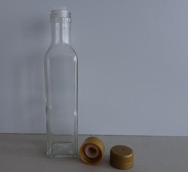 PP capsules met anti-lek plastiek goud 100st