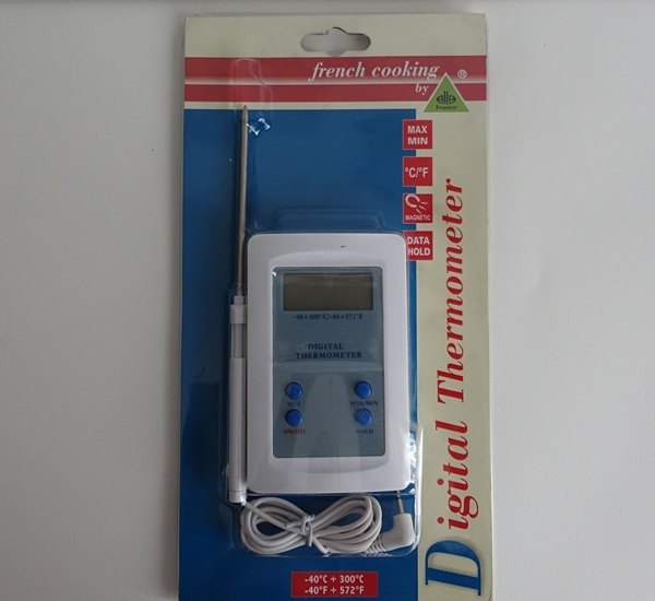 Thermometer digitaal -40+300°C kabel 125mm