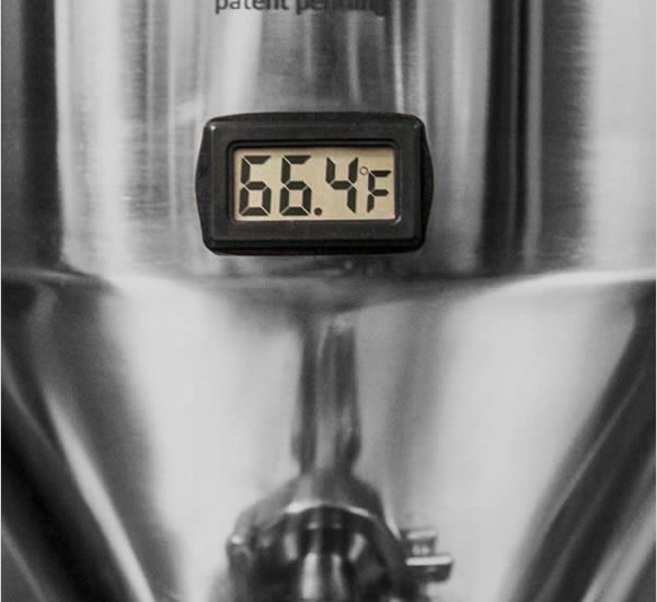 LCD thermometer voor SS Fermenter