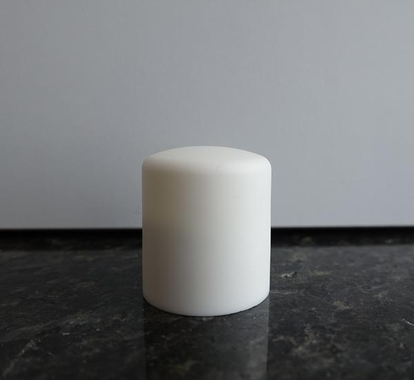 Witte schroefdop 24mm hoog model