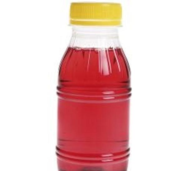 Sapfles PET 250ml met gele dop