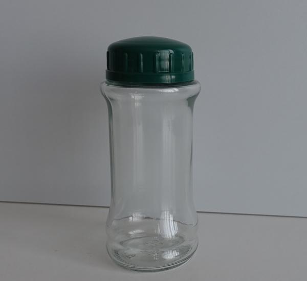 Kruidenbokaal 100ml met strooikop en groen deksel