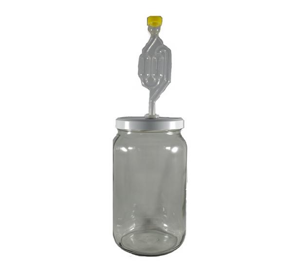 Inmaakbokaal 2L met gummy en waterslot