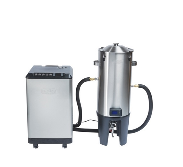 Glycol chiller en conical fermenter GrainFather set