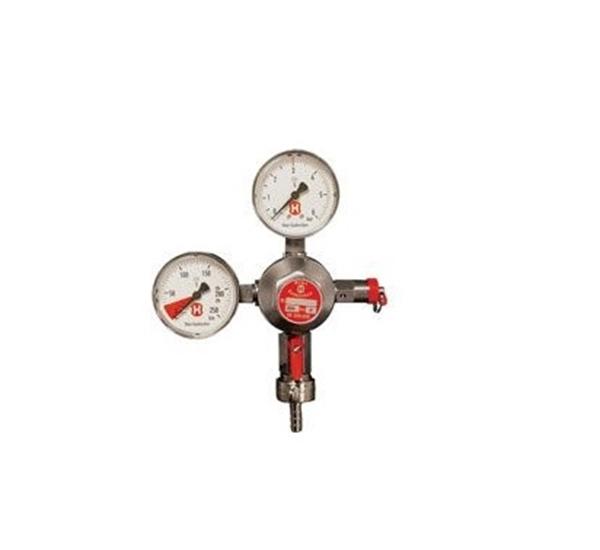CO2 drukregelaar 2 manometers 1 kegg aansluiting
