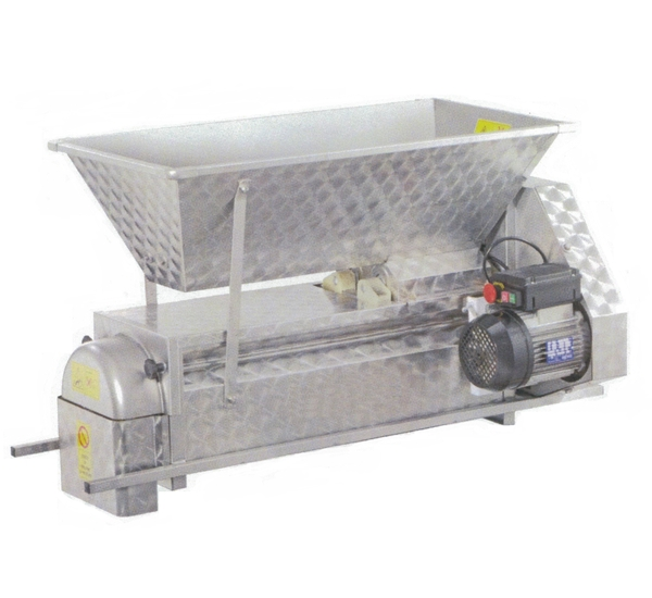 Druivenkneuzer en ontsteler electrisch inox (B)