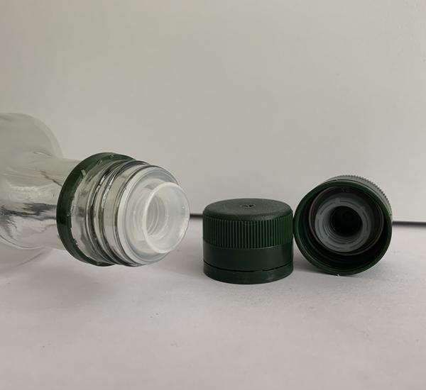 PP capsules met anti-lek plastiek groen 100st