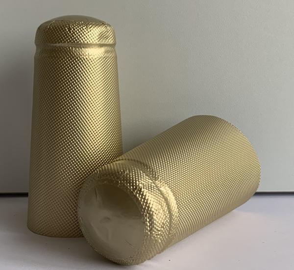 Aluminium capsules bierfles goud 34x90 100st
