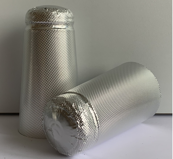 Aluminium capsules bierfles zilver 34x90 100st