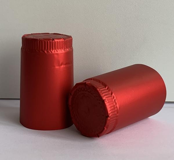Aluminium capsules wijnfles rood 100 st.