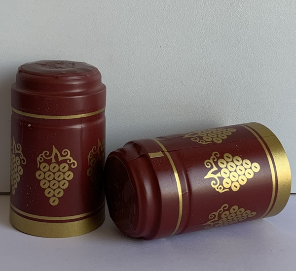 Krimpcapsules bordeaux met gouden druif 100st