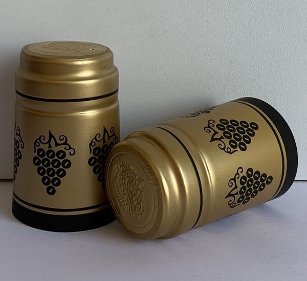 Krimpcapsules goud met zwarte druif 100st