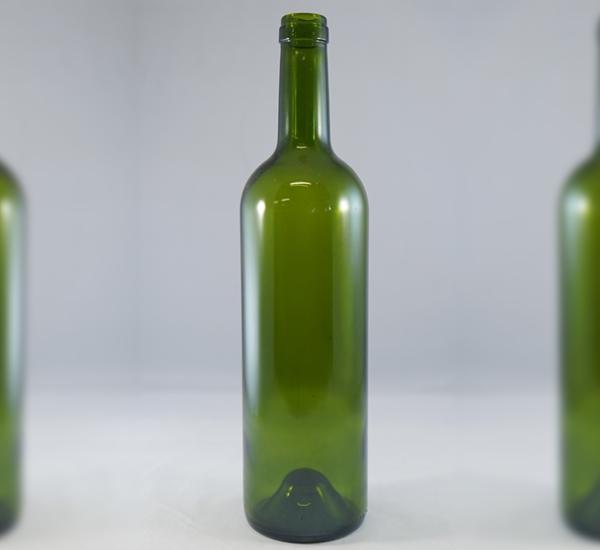 Bordeauxfles 75cl groen zwaar met ziel