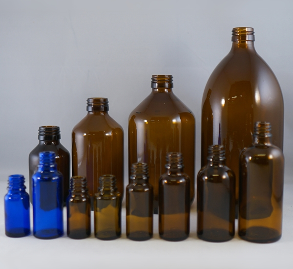 Verpakking flessen glas