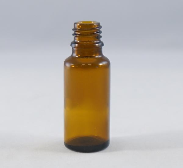 Fles 20ml bruin glas zonder dop (16mm)