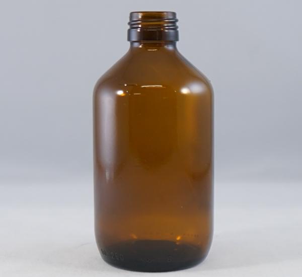 Fles 200ml bruin glas zonder dop (28mm)