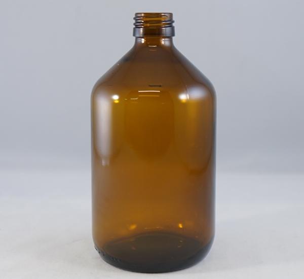 Fles 500ml bruin glas zonder dop (28mm)