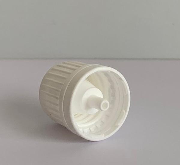Witte verzegelbare dop met druppelteller 16mm