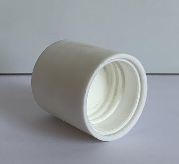 Witte schroefdop hoog model 24mm