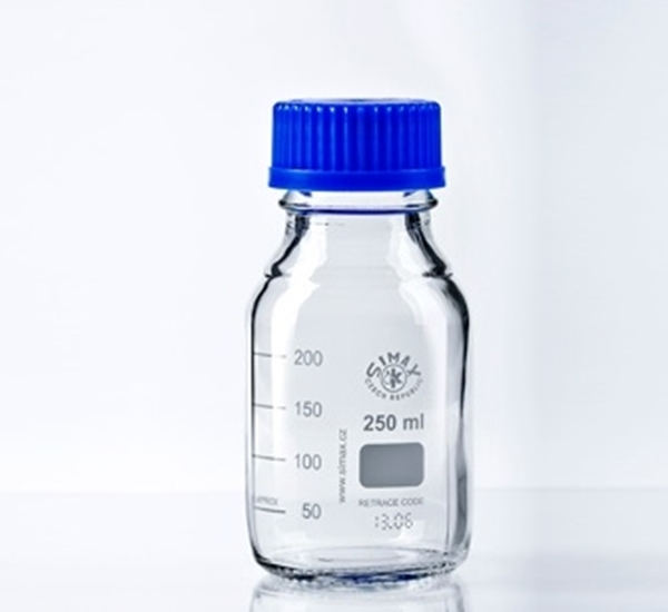 Maatfles ISO 250ml met steriliseerbare dop