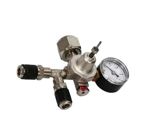 CO2 drukregelaar 2 manometers 2 keggs