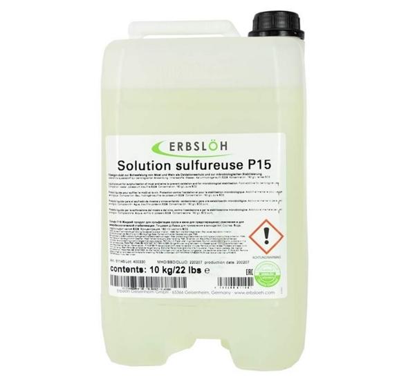 Sulfietoplossing vloeibaar P15 10kg.