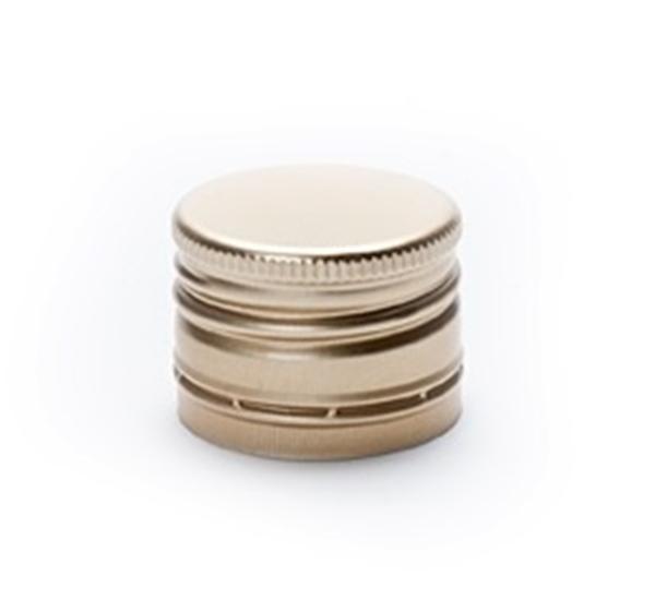 PP capsule 31,5 x 24 voorgevormd goud 1st