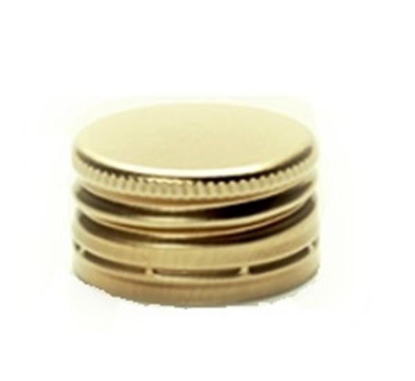 PP capsules 31,5 x 18 voorgevormd goud 100st