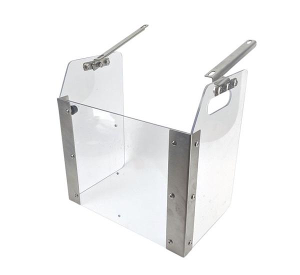 Splash guard voor cannular canning machine semi-automatisch