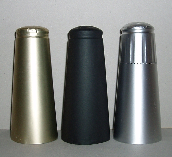 Aluminium capsules voor champagnestop zwart 25st