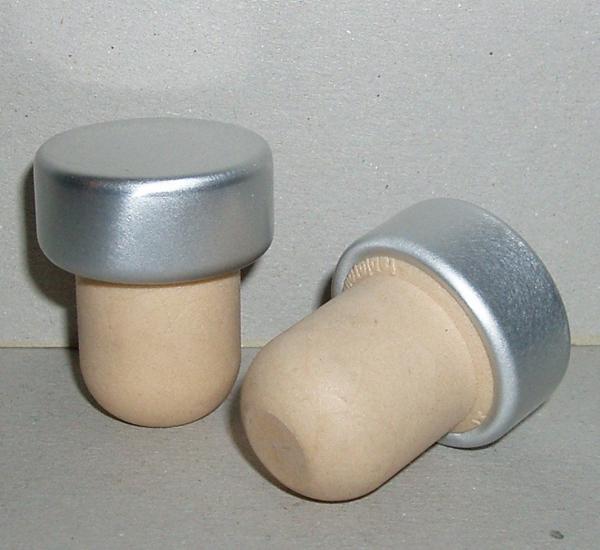 Portostop synthetisch zilveren dop 10st