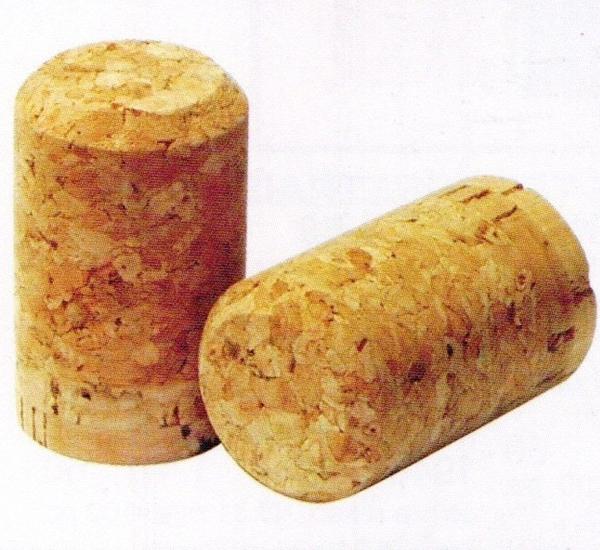 Bouchons champagne agglo + bouchon liège 48x30,5mm 100p