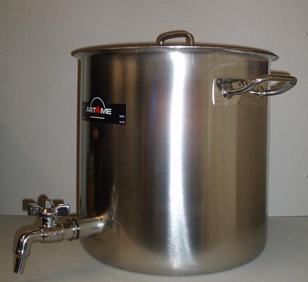 Cuve de brassage inox 25L avec robinet