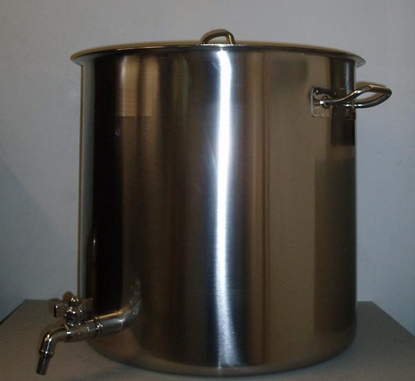 Cuve de brassage inox 170L avec robinet