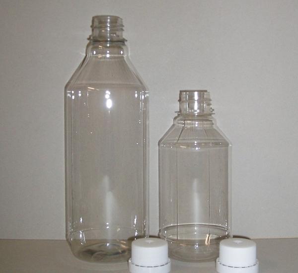 Bt. PET Cristal 1 litre avec bouchon