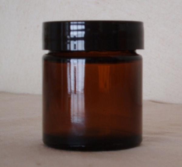 Pot à pommade verre brun 60ml