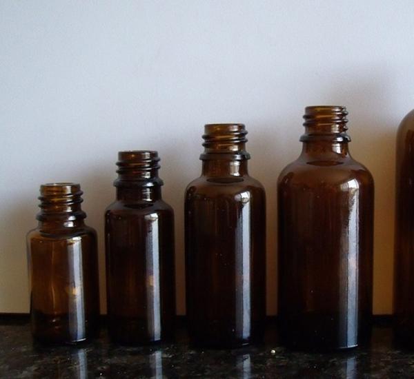 Bouteille verre brune 30ml sans bouchon (16mm)