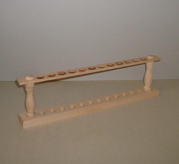 Porteur en bois pour 12 tubes à essais (1x12)
